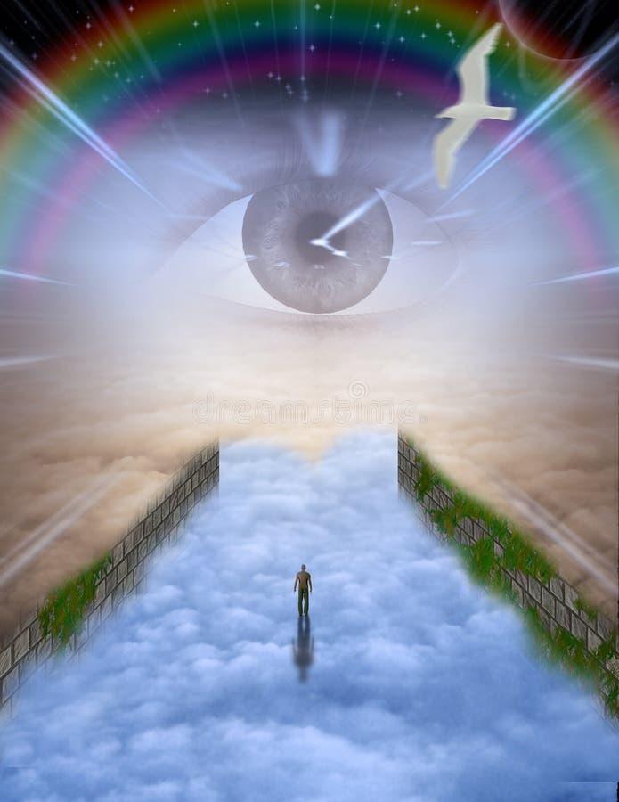 Viaje del alma stock de ilustración