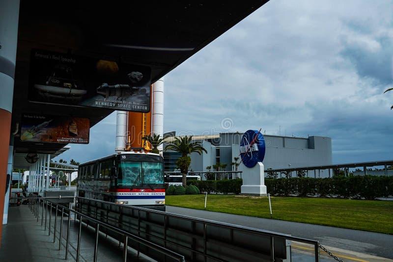 Viaje del autobús de la NASA en Kennedy Space Center fotos de archivo