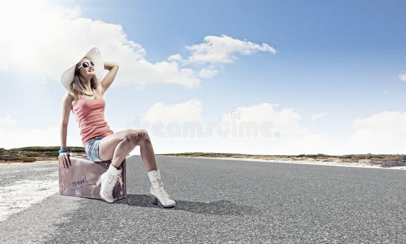 Viaje del Autostop foto de archivo