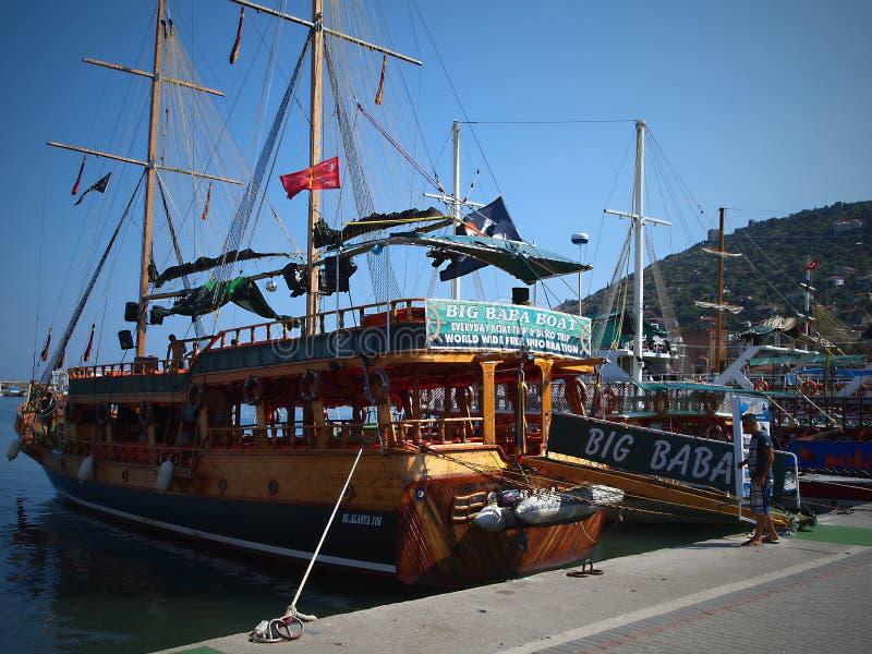 Viaje del barco de Alanya - riviera turca imágenes de archivo libres de regalías