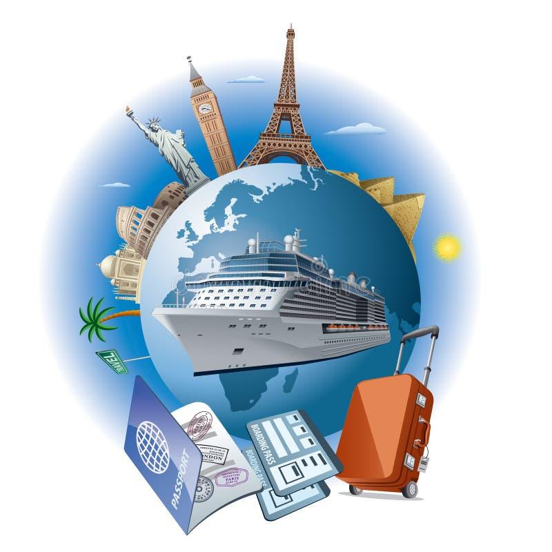 Viaje del barco de cruceros libre illustration