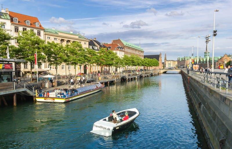 Viaje del canal en Copenhague imagen de archivo