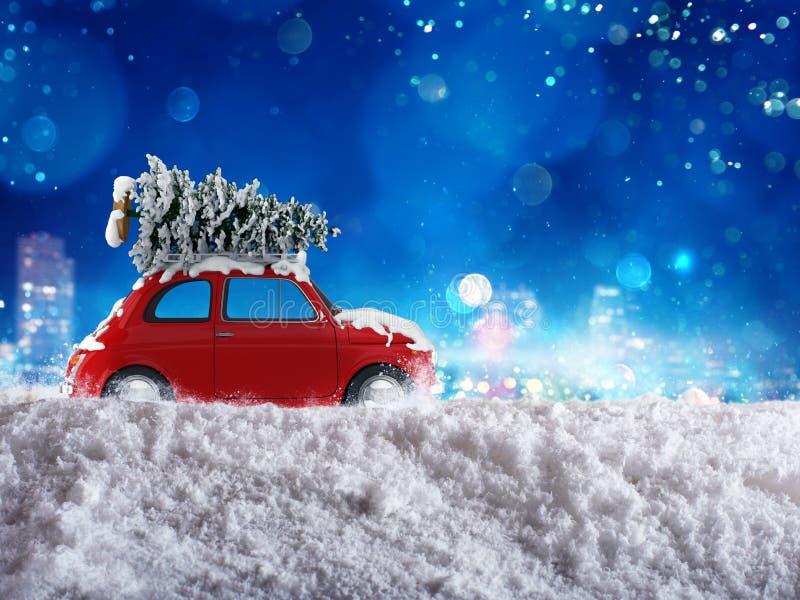 Viaje del día de fiesta de Navidad ilustración del vector