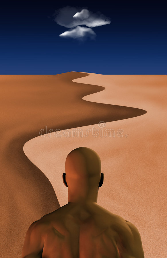 Viaje del desierto stock de ilustración