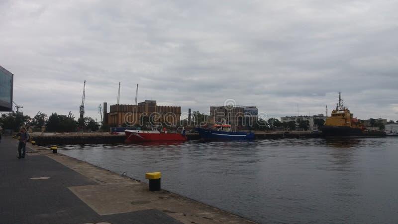 Viaje del mar en el mar del polaco de Gdynia foto de archivo