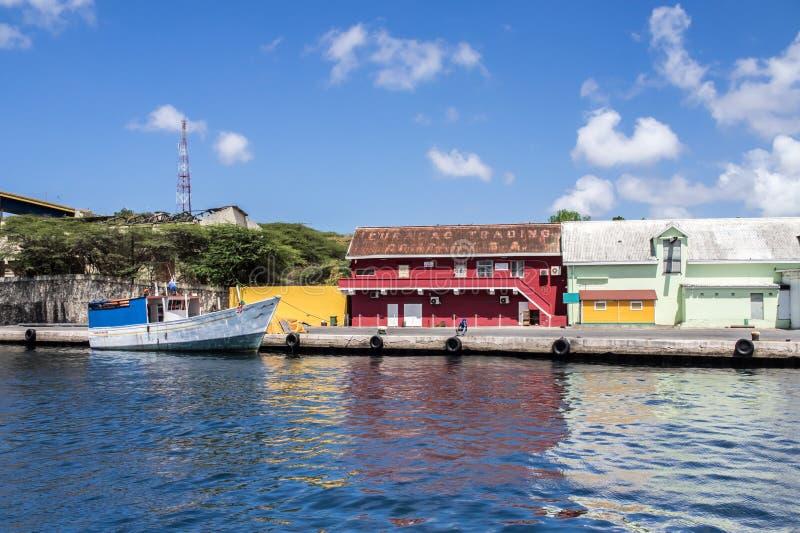 Viaje del puerto de Willemstad fotos de archivo