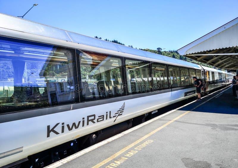 Viaje del tren de Kiwi Rail Scenic imágenes de archivo libres de regalías