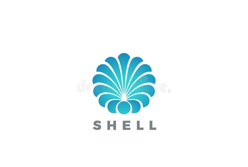 Viaje del vector del diseño del extracto del círculo de Shell Logo stock de ilustración