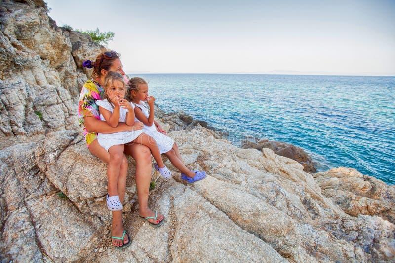 Viaje del verano de la familia foto de archivo libre de regalías