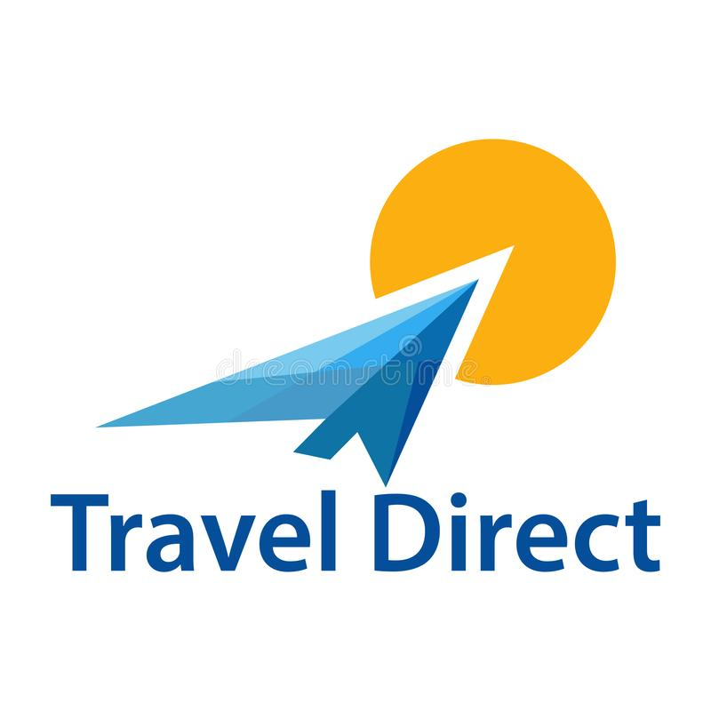 Viaje directo ilustración del vector
