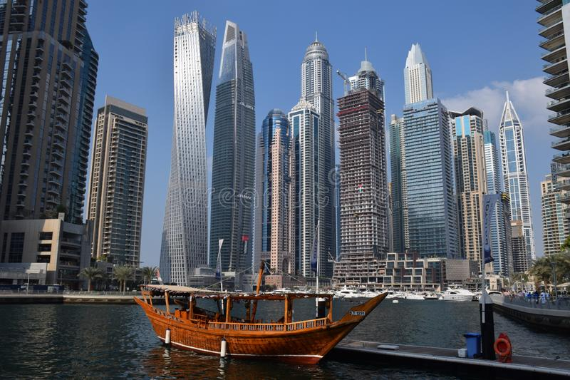 Viaje a Dubai increíble, United Arab Emirates foto de archivo
