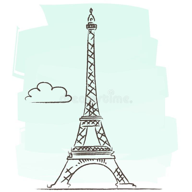 Viaje Eiffel stock de ilustración