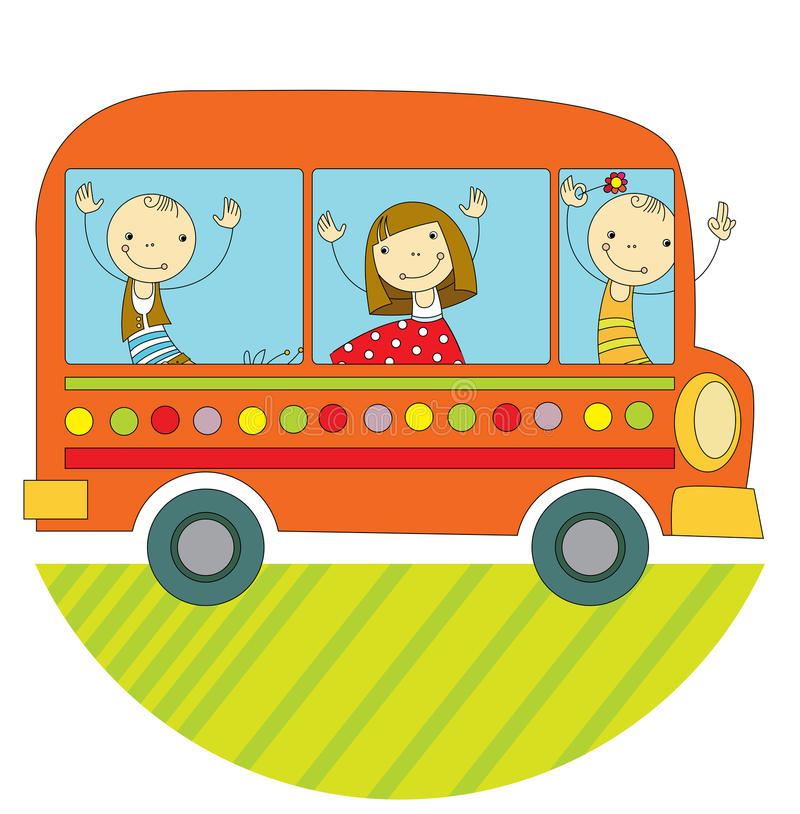 Viaje en autobús libre illustration