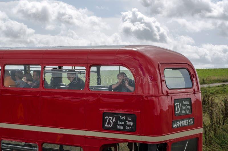 Viaje en autobús a la llanura de Salisbury fotografía de archivo