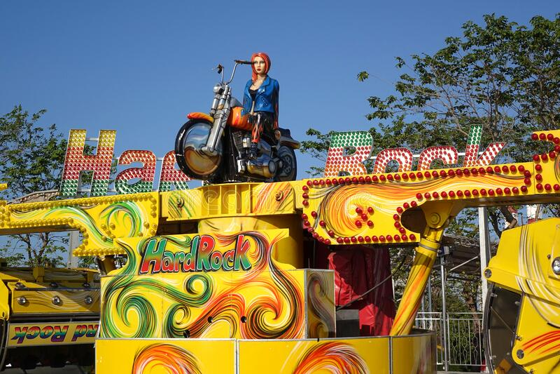 Viaje en carnaval de Hard Rock fotografía de archivo