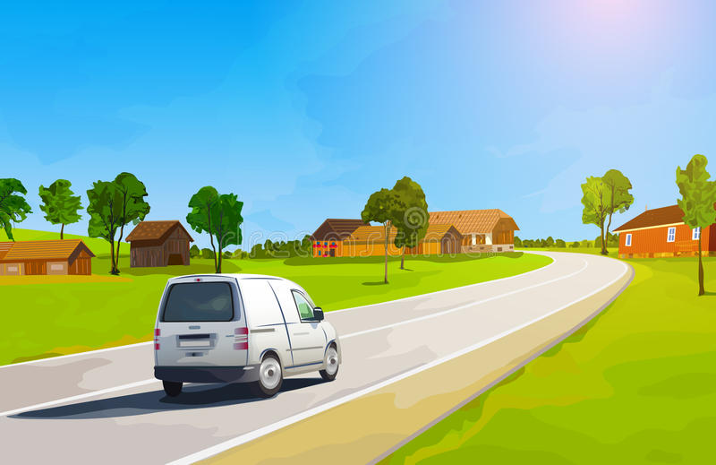 Viaje en coche libre illustration