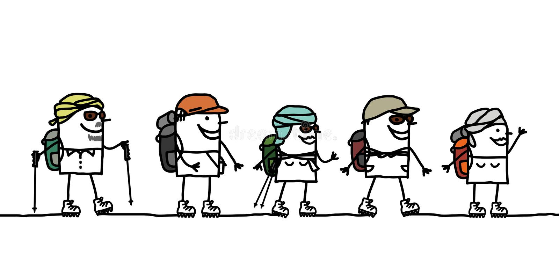 Viaje en el desierto stock de ilustración
