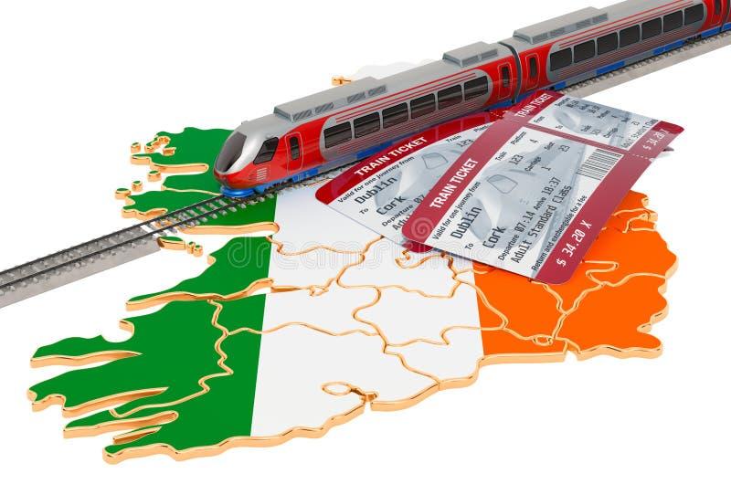 Viaje en Irlanda, concepto del carril representaci?n 3d libre illustration