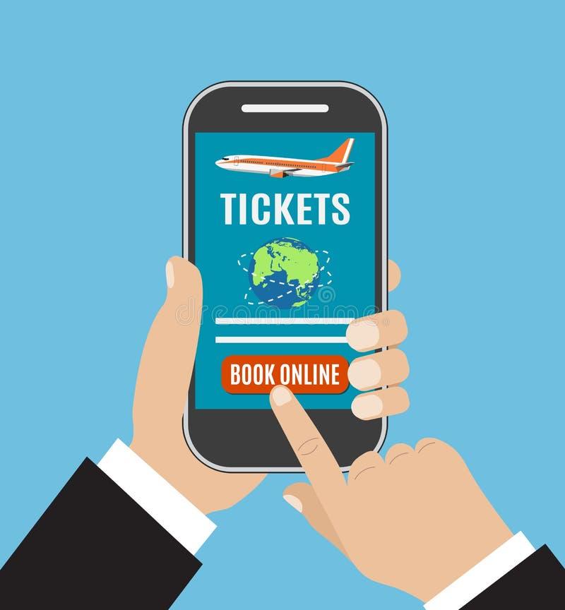 Viaje en línea de reservación o boleto de los vuelos libre illustration