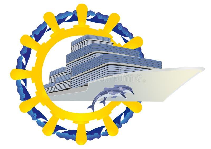Viaje en los mares ilustración del vector