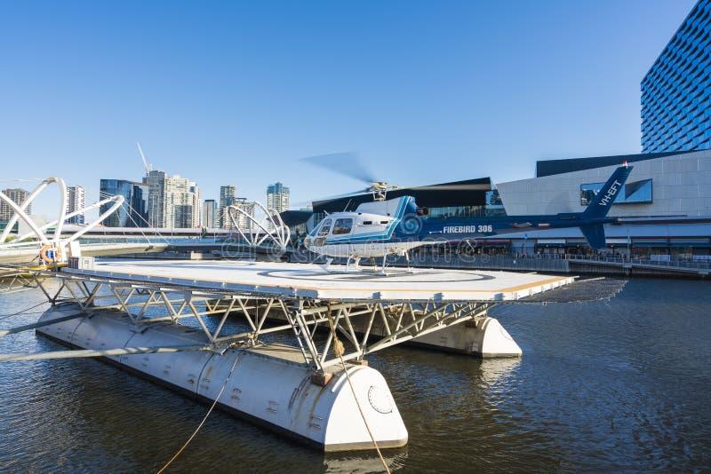 Viaje escénico del helicóptero en Melbourne, Australia fotos de archivo libres de regalías