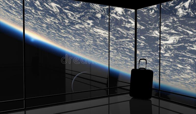Viaje espacial ilustración del vector