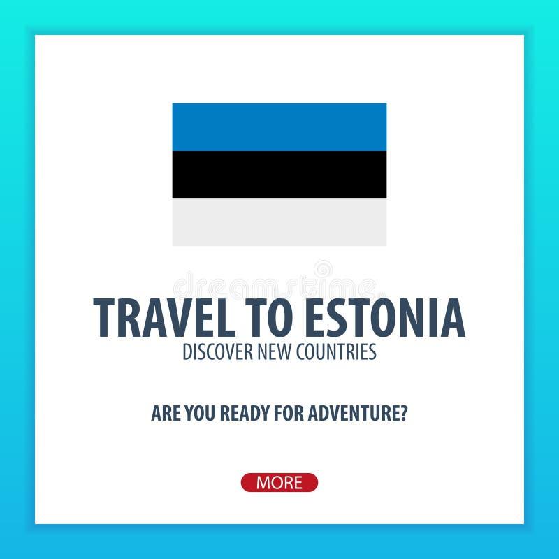 Viaje a Estonia Descubra y explore los nuevos países Viaje de la aventura libre illustration