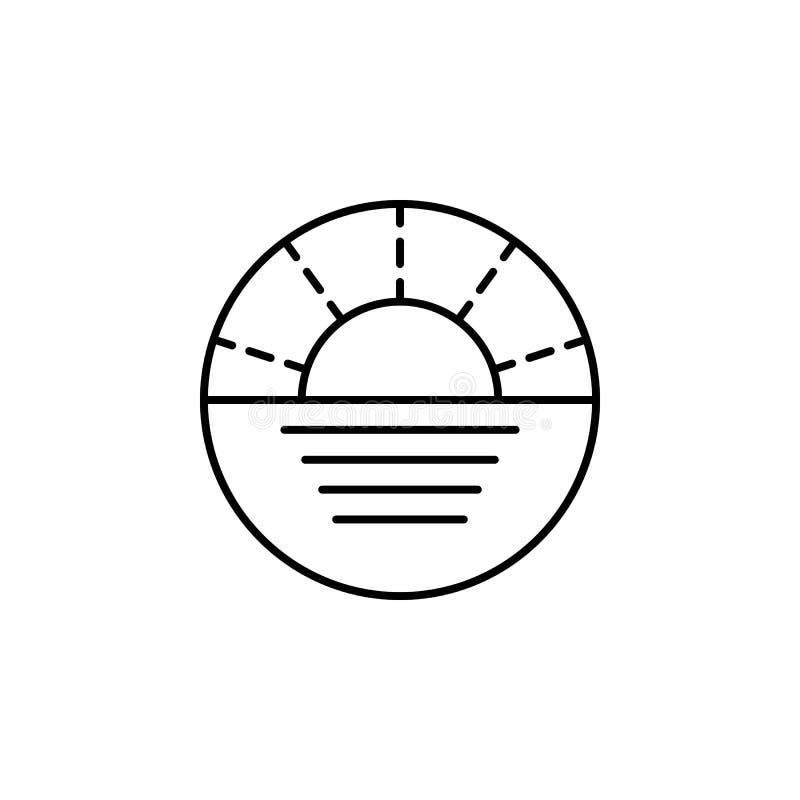 Viaje, icono del esquema de la navegación Elemento del ejemplo del viaje Las muestras y el icono de los símbolos se pueden utiliz stock de ilustración