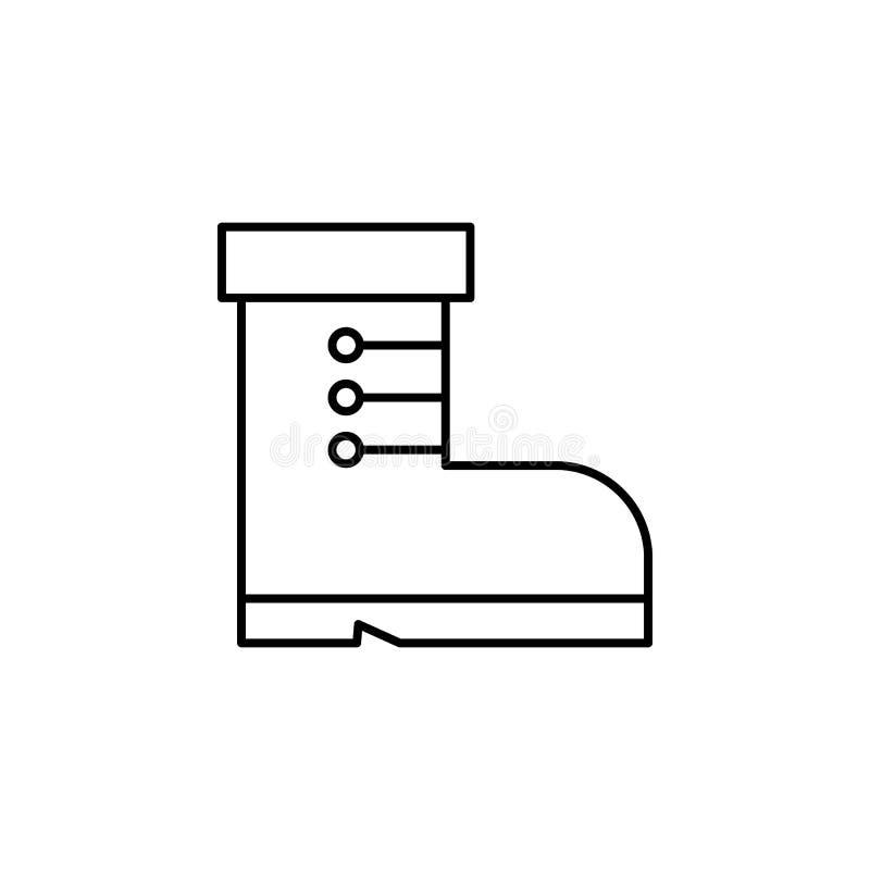 Viaje, icono del esquema de los trineos Elemento del ejemplo del viaje Las muestras y el icono de los símbolos se pueden utilizar libre illustration