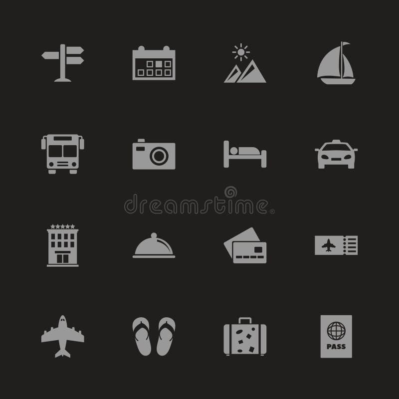 Viaje - iconos planos del vector libre illustration