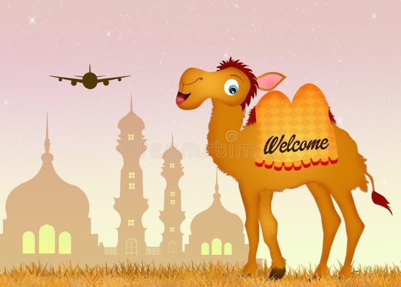 Viaje a la India ilustración del vector
