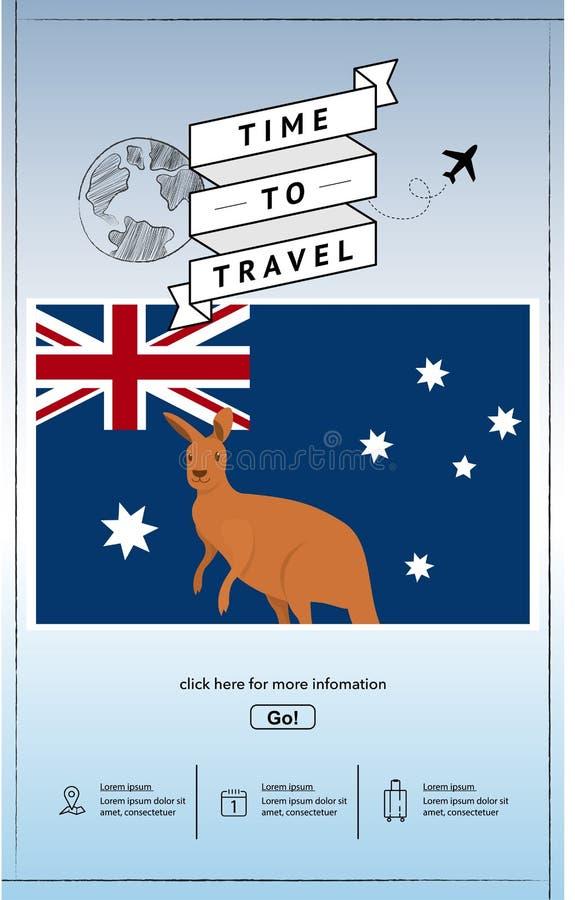 Viaje a la plantilla de la presentaci?n de Australia fotografía de archivo