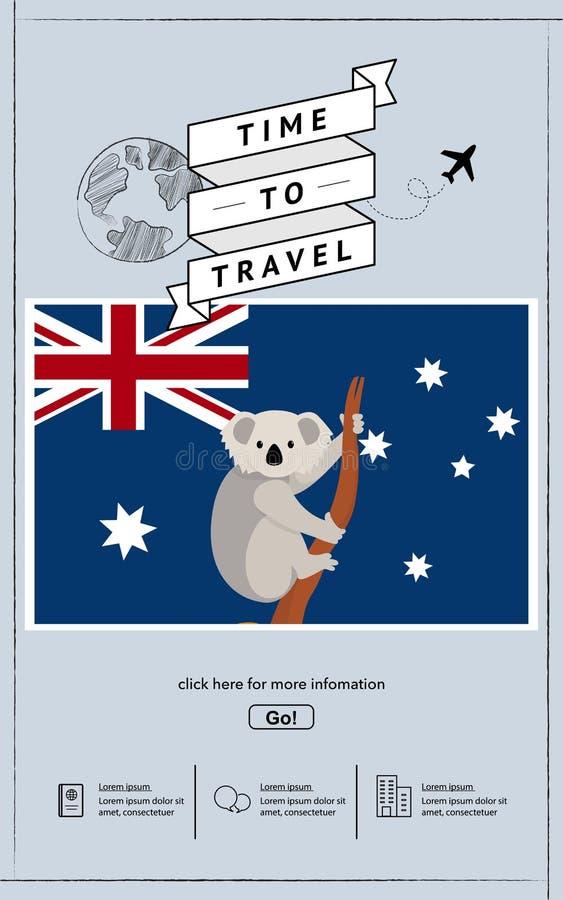 Viaje a la plantilla de la presentaci?n de Australia fotos de archivo libres de regalías