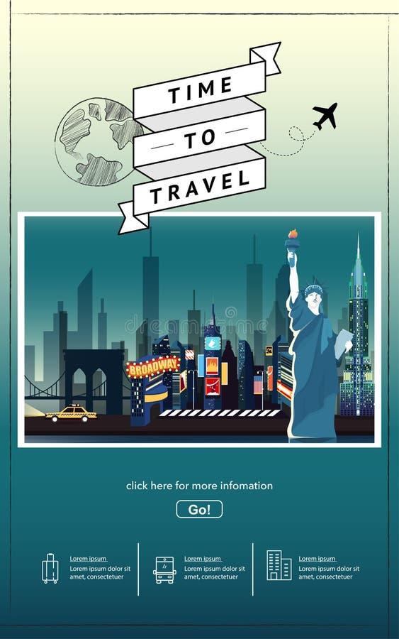 Viaje a la plantilla de la presentaci?n de Nueva York fotografía de archivo