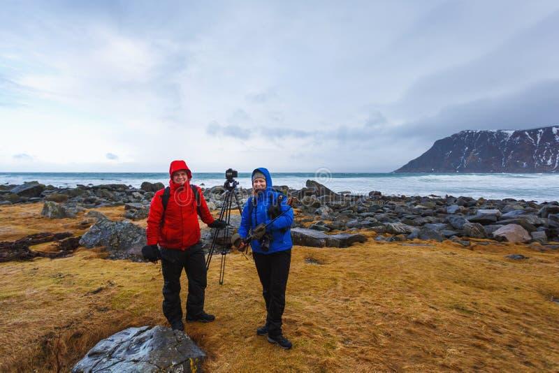 Viaje a las islas de Lofoten imagen de archivo libre de regalías