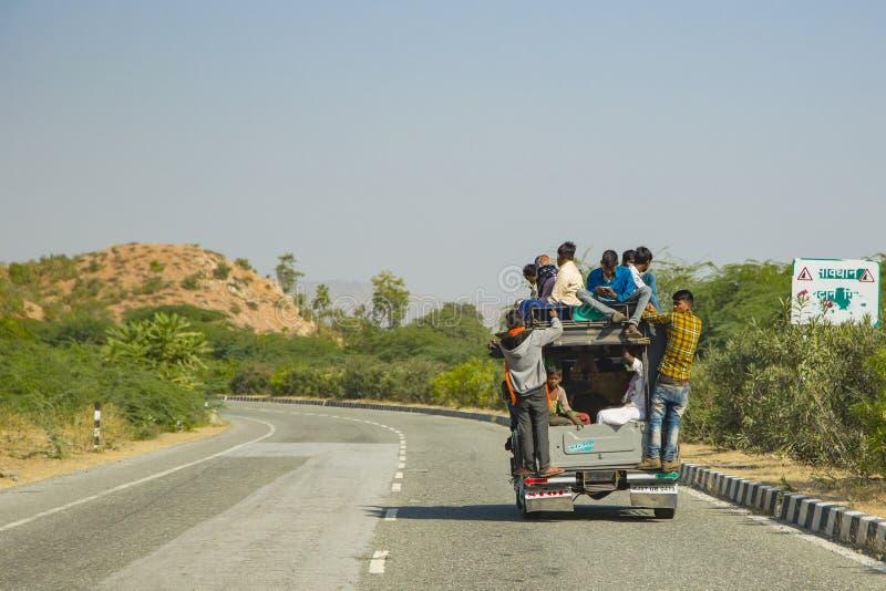 Viaje local en la India fotos de archivo