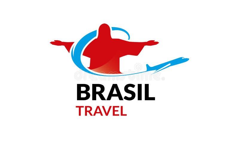 Viaje Logo Template del Brasil ilustración del vector