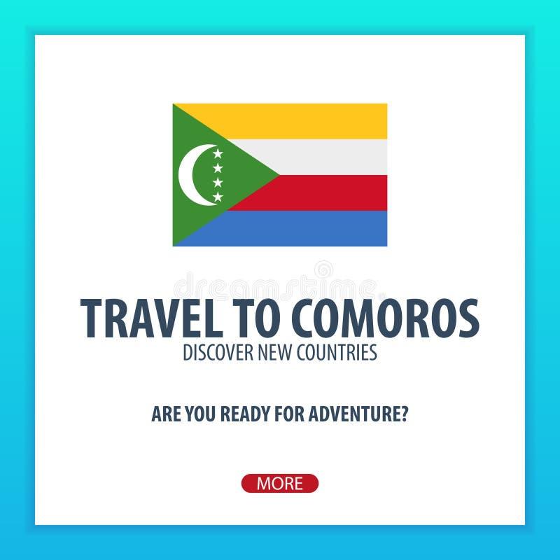 Viaje a los Comoro Descubra y explore los nuevos países Viaje de la aventura ilustración del vector