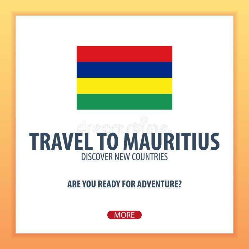 Viaje a Mauricio Descubra y explore los nuevos países Viaje de la aventura libre illustration
