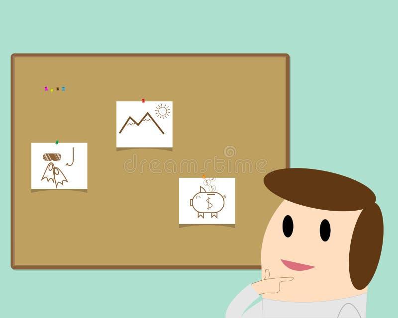 Viaje o ahorros stock de ilustración