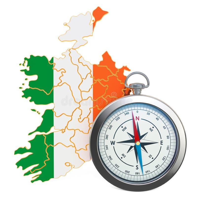 Viaje o turismo en el concepto de Irlanda representaci?n 3d ilustración del vector