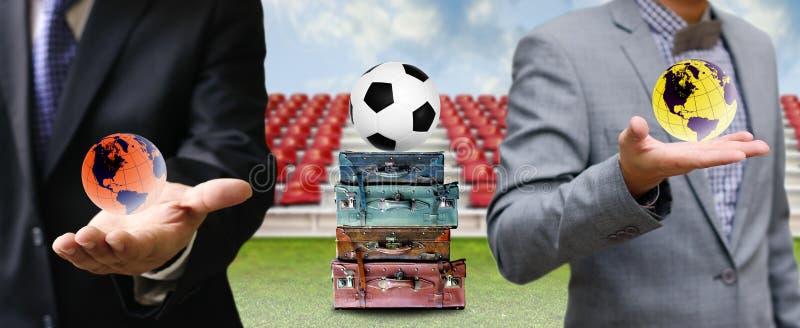 Viaje para el negocio del fútbol fotografía de archivo libre de regalías