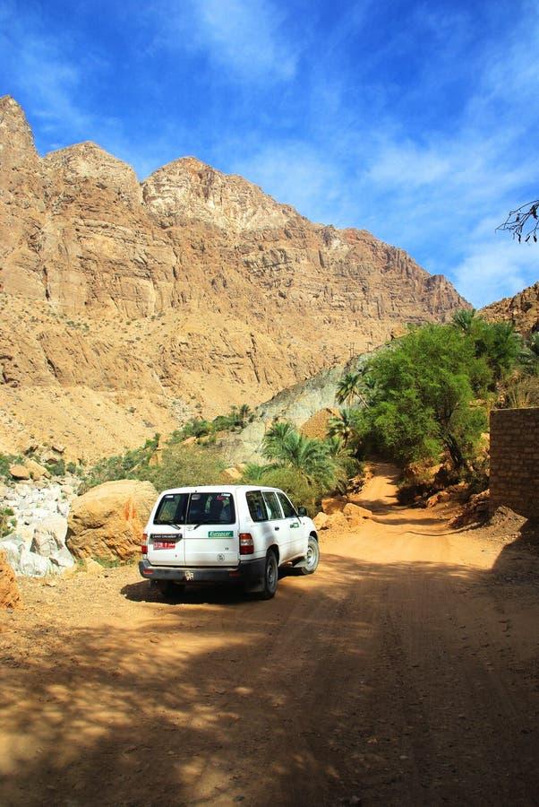 Viaje por carretera de Omán fotografía de archivo