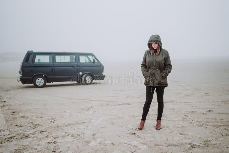 Viaje por carretera en invierno foto de archivo libre de regalías
