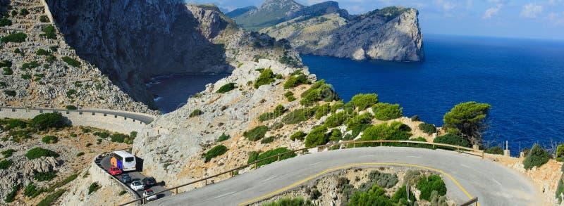 Viaje por carretera a través de Mallorca fotografía de archivo