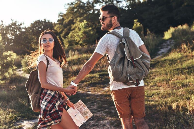 Viaje romántico imagen de archivo libre de regalías