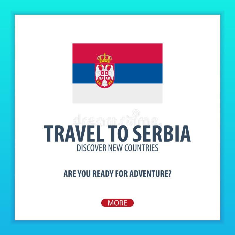Viaje a Serbia Descubra y explore los nuevos países Viaje de la aventura libre illustration