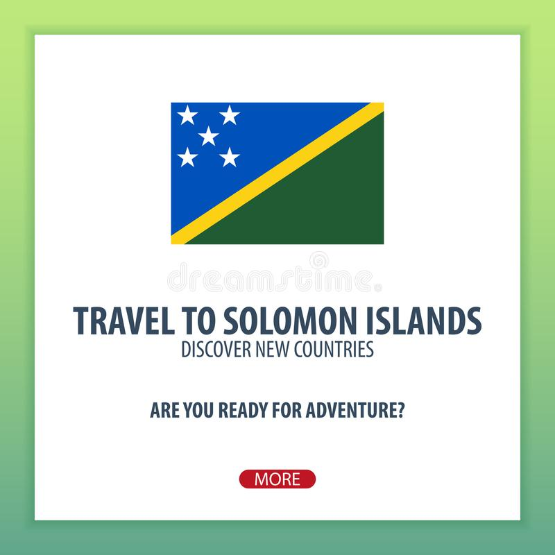 Viaje a Solomon Islands Descubra y explore los nuevos países Viaje de la aventura ilustración del vector