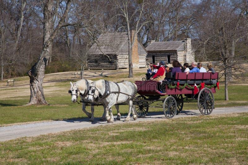Viaje traído por caballo de la Navidad de la ermita, fotos de archivo