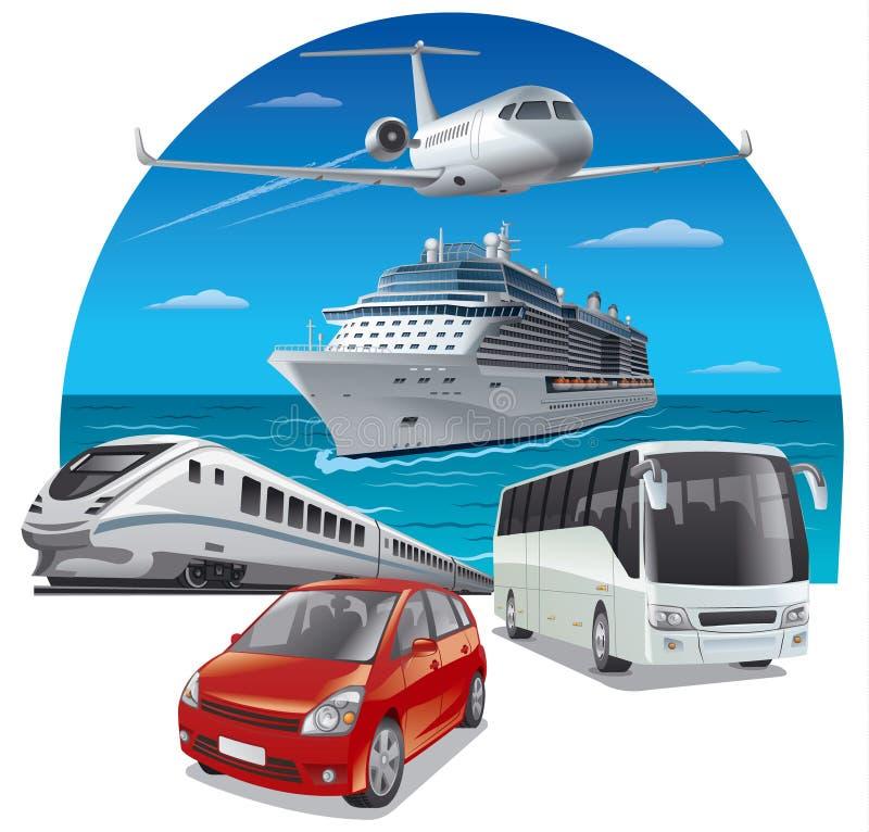 Viaje y viaje stock de ilustración